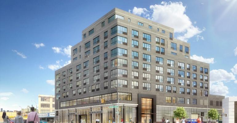 Artist rendering shows how Silver Star Motors will occupy first two floors of 10story NYC building