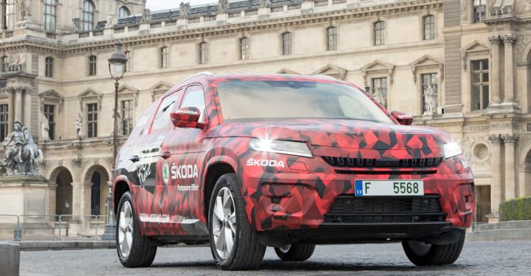 Camouflaged version of upcoming Kodiaq to be launched at Paris auto show