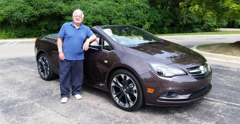 Smith ready for topdown ride to Traverse City in Buick Cascada