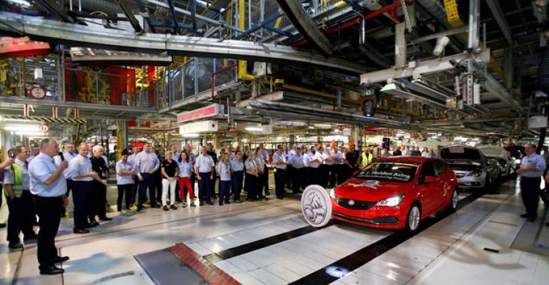 First Holden Astra rolls off line in Poland