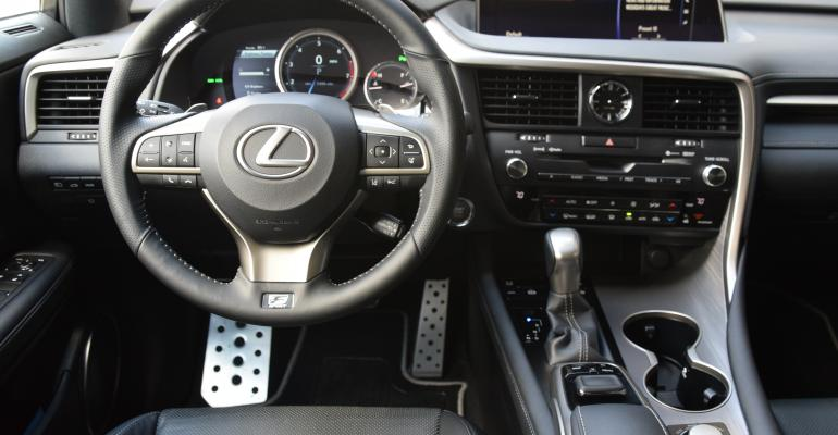 Lexus RX cockpit puts driver in charge