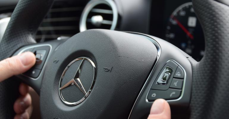 Multidirectional touchpads among several ways to interface with Mercedes EClass