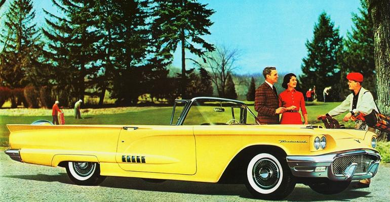 Ford hopes allnew 4passenger 3958 Thunderbird will have wider appeal