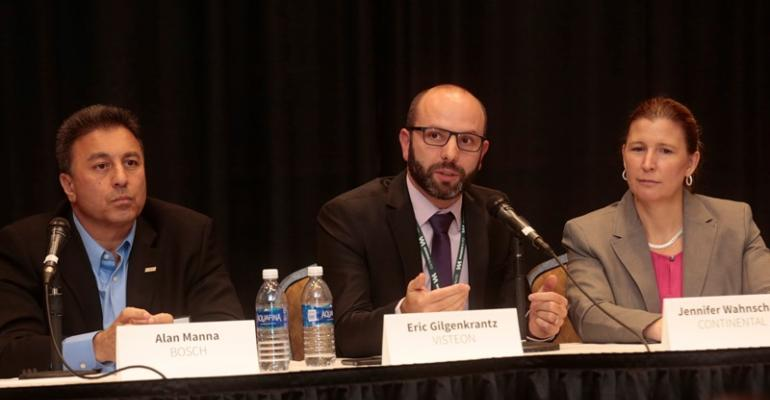 Speakers from Bosch Visteon and Continental talk HUD future