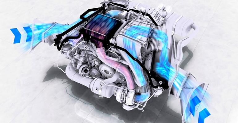 Chargeair cooling circuit of allnew 25L turbocharged 4cyl boxer in rsquo17 Porsche 718 Boxster S