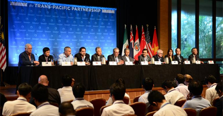 Representatives of TPP signatory countries at 2015 conference in Hawaii