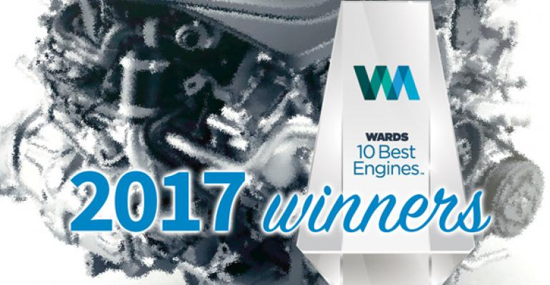 Winning automakers will be honored Jan 11 at a WardsAuto ceremony in Detroit during the North American International Auto Show