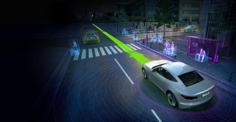 Nvidiarsquos DRIVE PX 2 Artificial Intelligence platform can understand in realtime whatrsquos happening around the vehicle locate itself on an HD map and plan a safe route