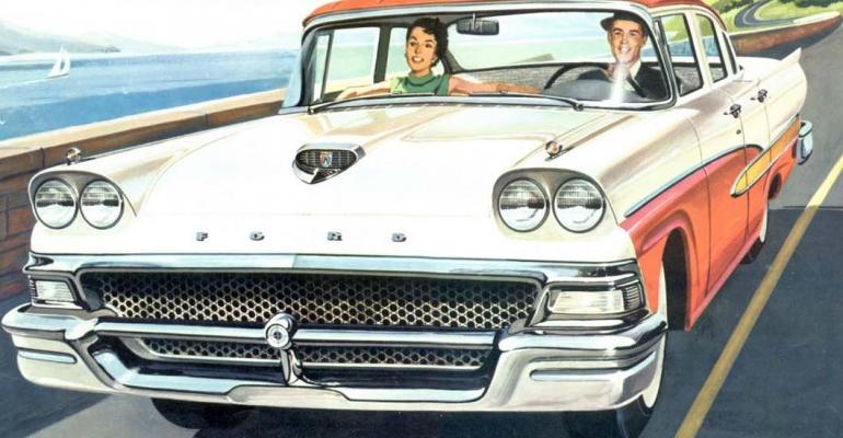 3958 Custom 300 Fordor sedan helps Ford secure top spot in 1957 US car sales