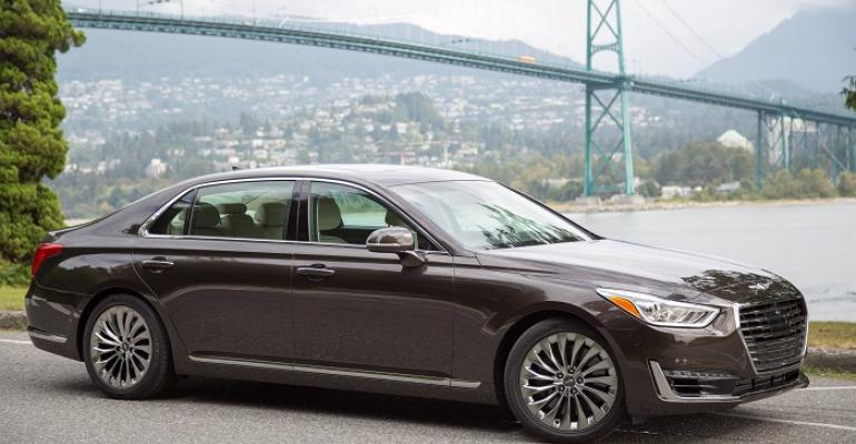 Genesis G90 in struggling large luxury car segment
