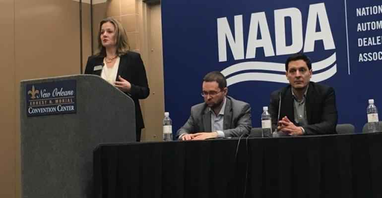 Zabritski Szakaly center and Banks discuss market concerns at NADA convention