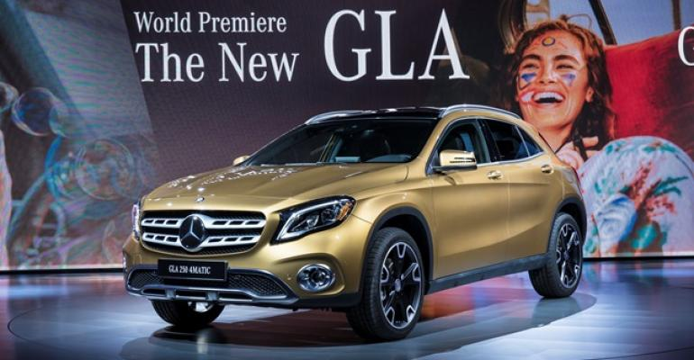Freshened GLA CUV makes debut on eve of Detroit show