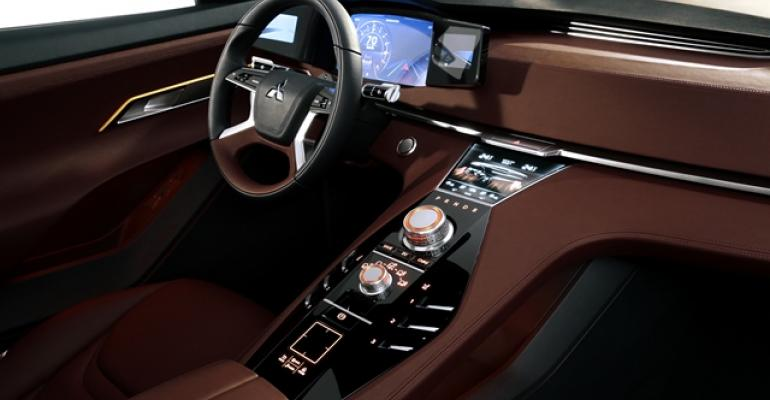 Interior of Mitsubishirsquos GTPHEV concept said to foreshadow nextgen Outlander due by end of the decade
