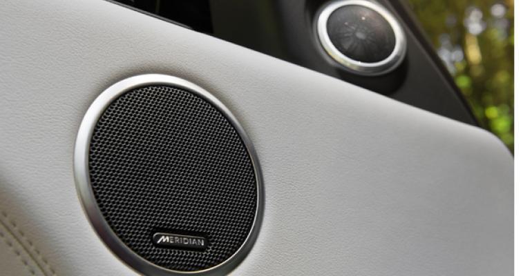 Range Roverrsquos Meridian system pumps digital audio through 29 speakers