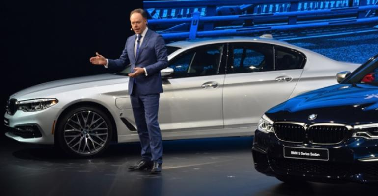 Unveiling allnew BMW 5Series in Detroit Robertson counting on sales growth for electrified vehicles