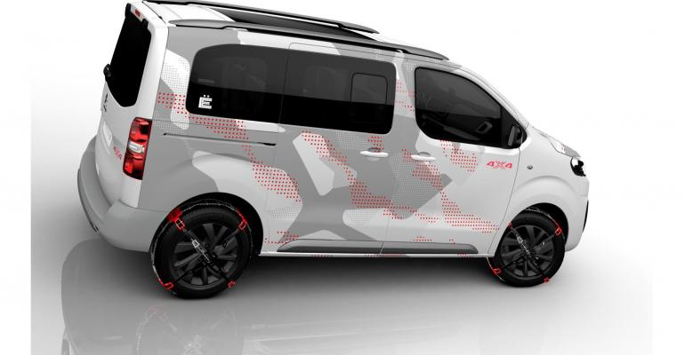 citroen roomy rugged space tourer 4x4 e concept coming to geneva wardsauto. Black Bedroom Furniture Sets. Home Design Ideas