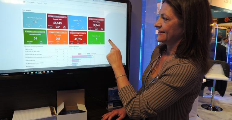 Kitzman shows dashboardformatted addon to Dealertrackrsquos DMS