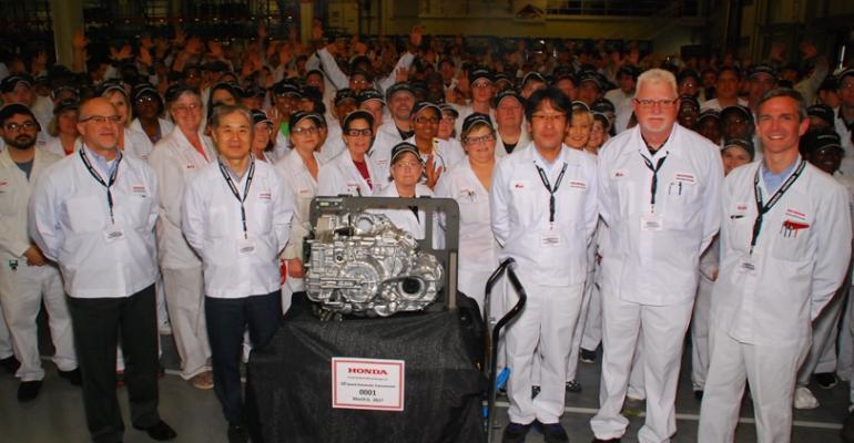 Honda Georgia transmission plant assembling Odyssey 10speed auto