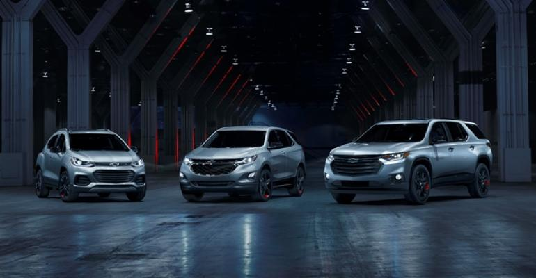 Chevyrsquos breadandbutter CUV lineup of compact Trax left midsize Equinox and large Traverse right in special edition trim