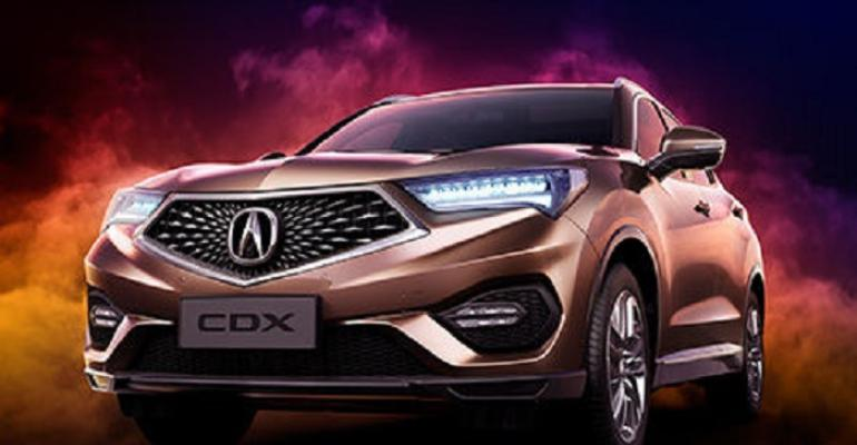 Acura CDX sold in China since last year