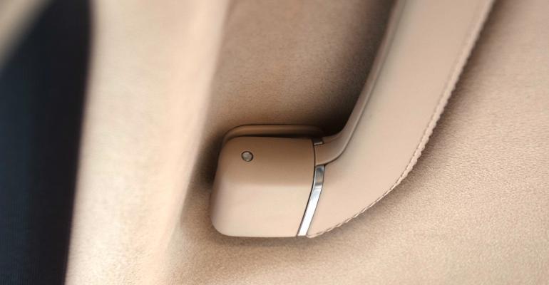 Judge Schweinsberg not happy with exposed pin of Mercedes EClass grab handles