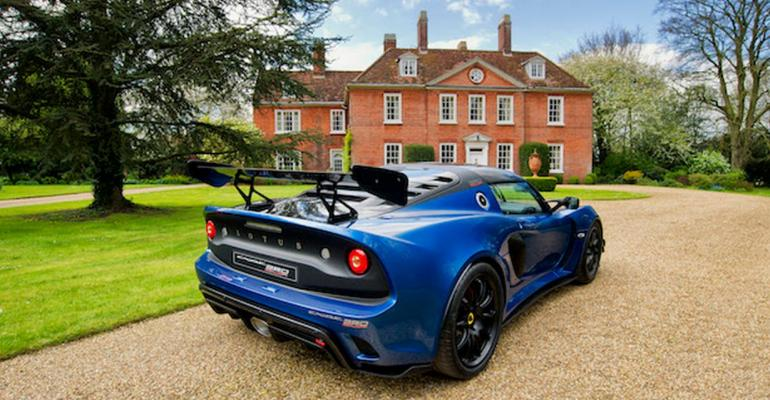 Exige Cup 380 coupe features extensive use of carbon fiber downforce boost