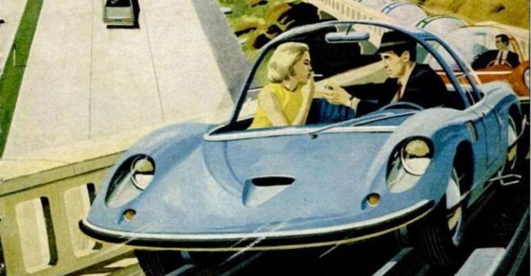 1960s Urbmobile autonomous car concept
