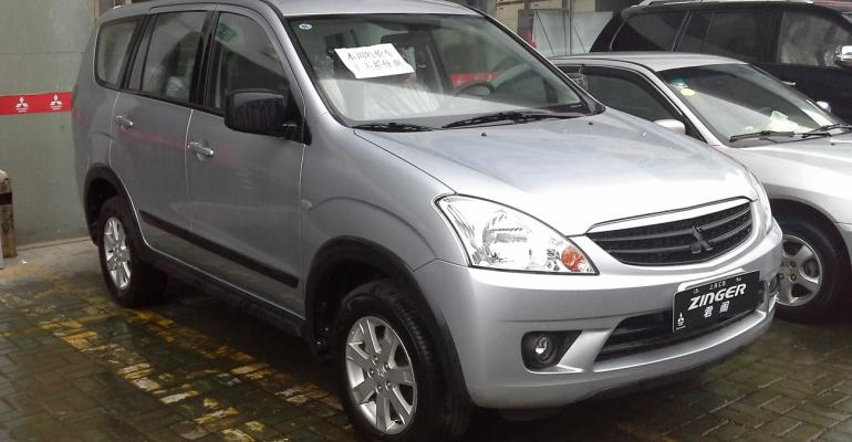 Mitsubishi Zinger MPV built in Vietnam for export markets including China
