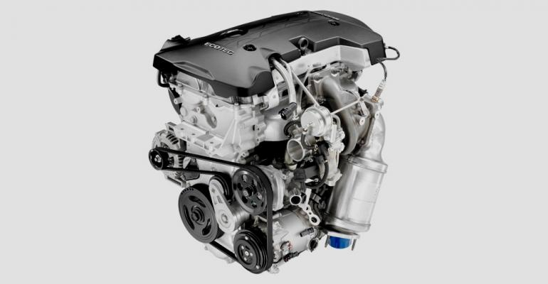 GM39s 252hp 20L turbo4 slightly adapted from rearwheeldrive applications in Chevrolet Camaro and Cadillac ATS and CTS