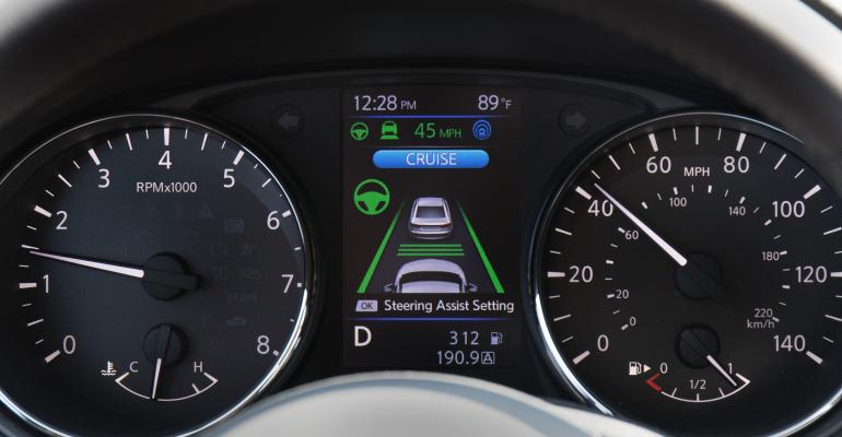 ProPilot screen shown in forthcoming Nissan Leaf EV
