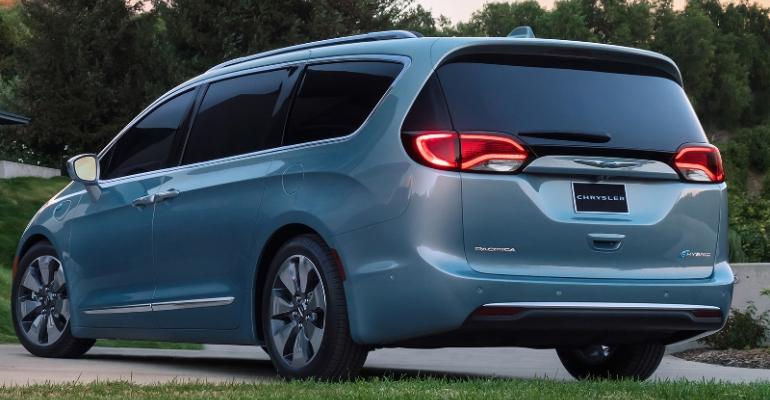 Chrysler Pacifica Hybrid one of two electrified FCA products today