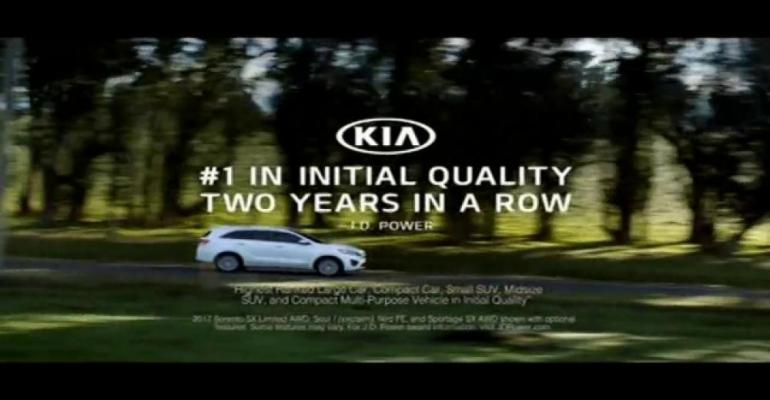 Mostviewed car commercial touts Kiarsquos JD Power quality awards