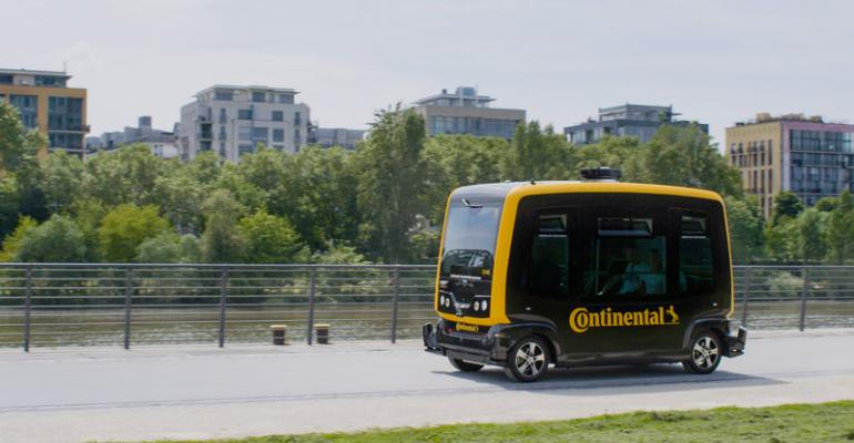 Conti39s CUbE a codevelopment with driverless shuttle maker EasyMile