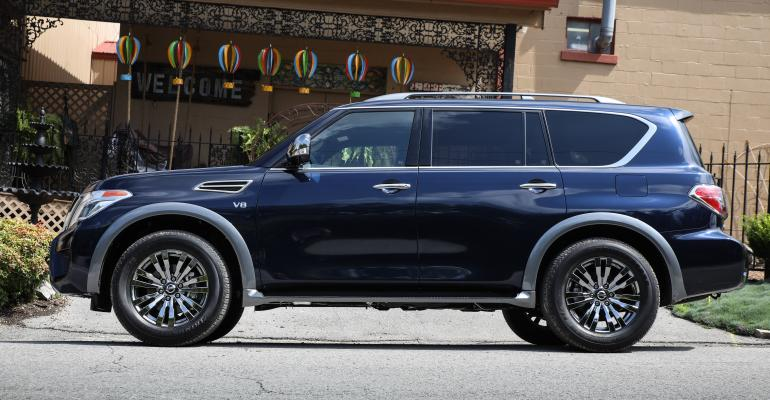 Armada exterior features darkchrome accents and wheels