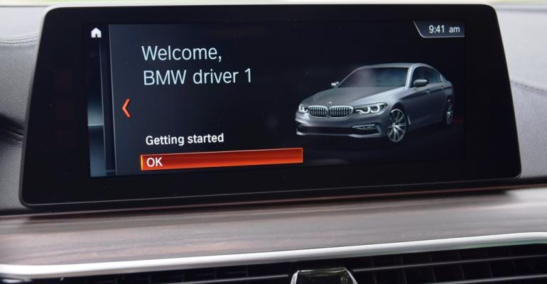 Startup sequence greets BMW 540i driver