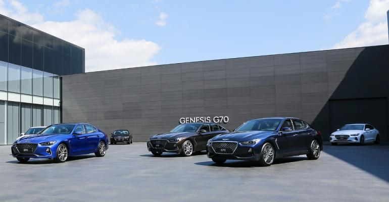 Genesis G70s at brandrsquos design center in South Korea