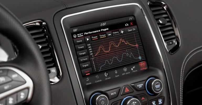 Big 84in touchscreen enhances driving engagement with realtime performance data