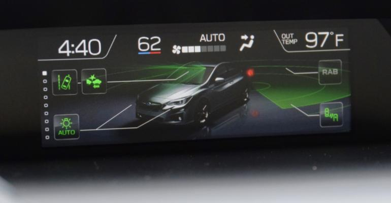 Upper center screen communicates ADAS workings enhancing driver peace of mind
