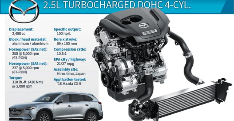 Mazda's Innovative 4-Cyl. Engine Pulls Like Big V-6