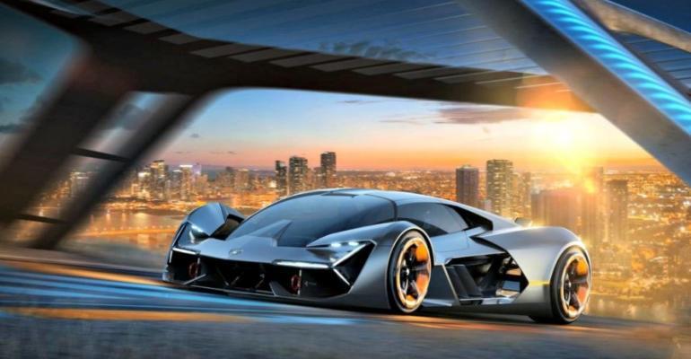 Electric concept Lamborghini substitutes supercapacitors for battery