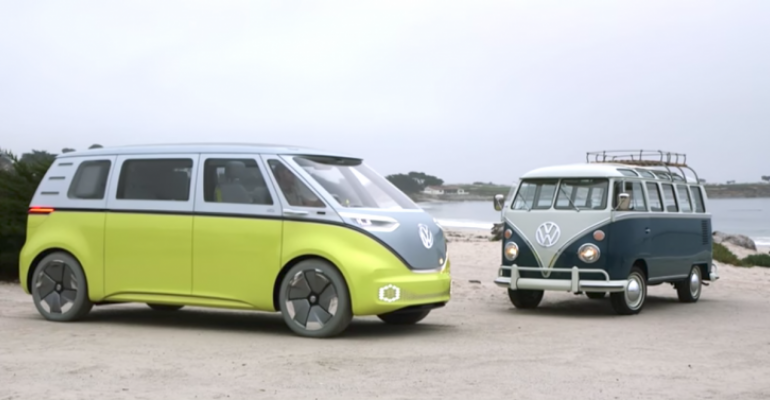 Electric ID Buzz due in 2022 pays homage to VW Microbus