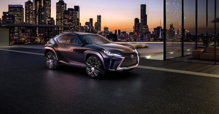 Lexus UX concept debuted at 2016 Paris auto show