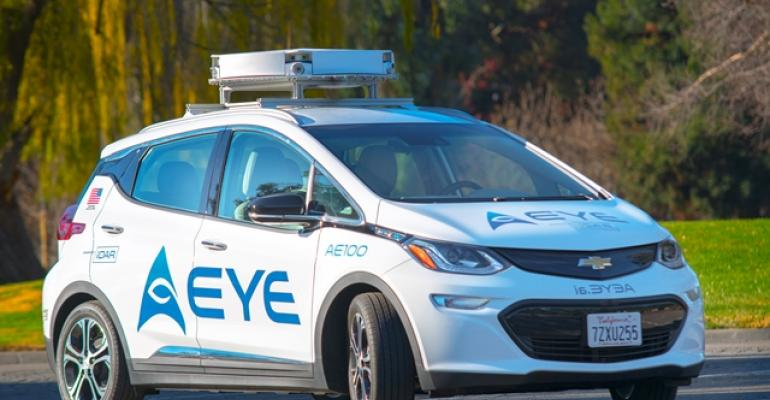 Chevy Bolt equipped with AEye iDAR solidstate robotic perception technologies