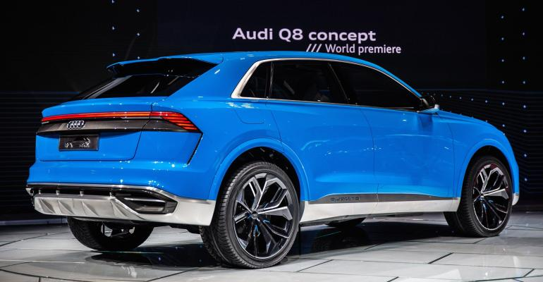 Audi Q8 concept unveiled at 2017 North American International Auto Show in Detroit