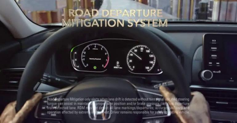 Mostwatched ad focuses on 18 Accordrsquos safety features