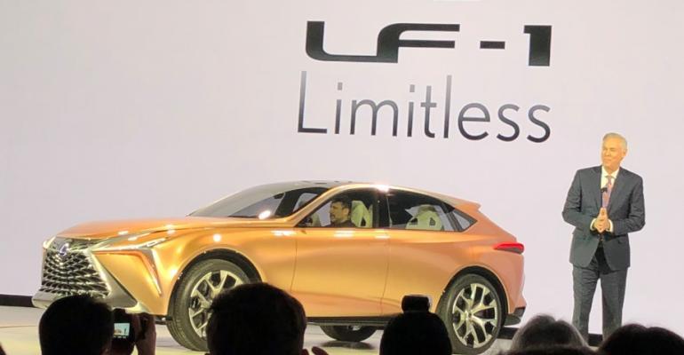 Bracken introduces Lexus concept CUV at Detroit auto show