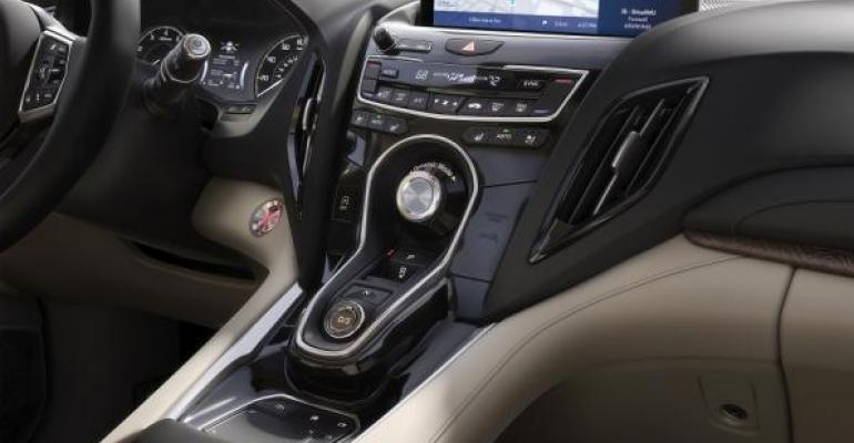 Acurarsquos new singlescreen infotainment system is controlled by touchpad at base of center stack