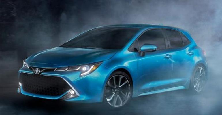 Corolla hatchback on sale in US in summer