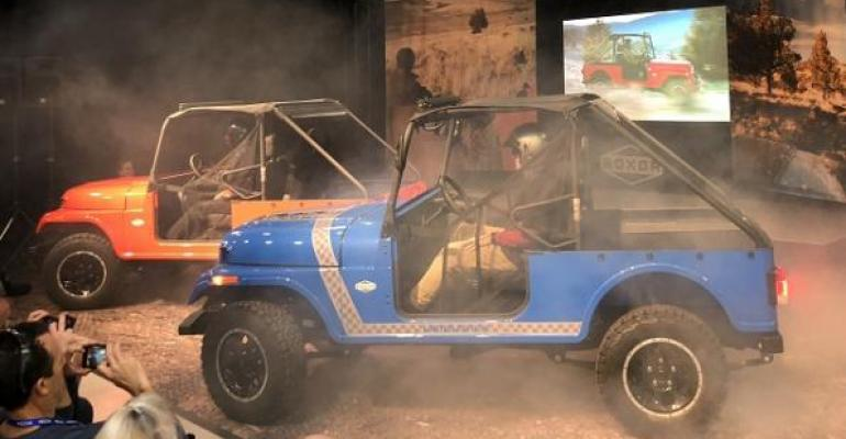 Mahindra reveals its offroad Roxor at its new plant in Michigan