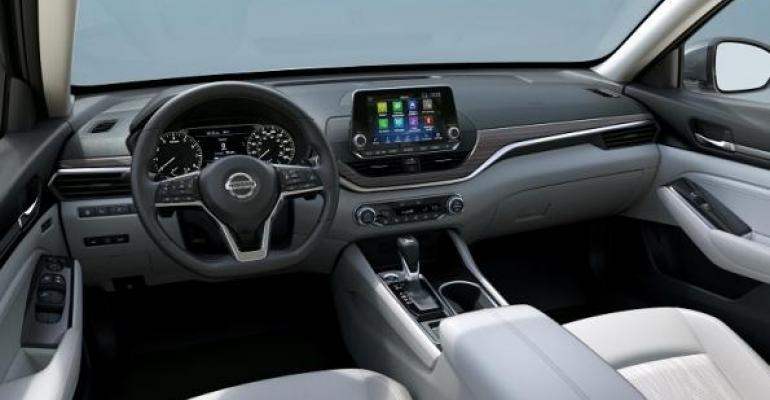 Altima39s center stack rearranged with higher screen fewer hard buttons
